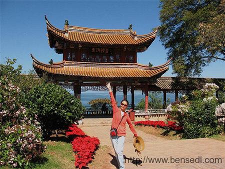 洱海公园望海楼图片