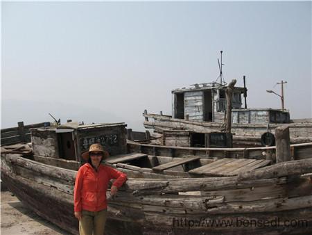 青岛会场码头渔船图片