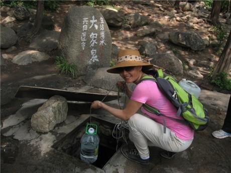 泰山石峡园大家泉图片