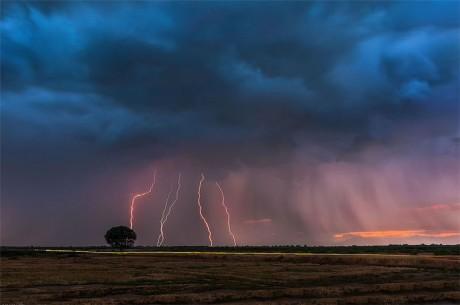 夏至雷雨图片