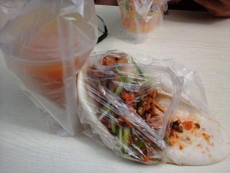西安素菜夹馍图片