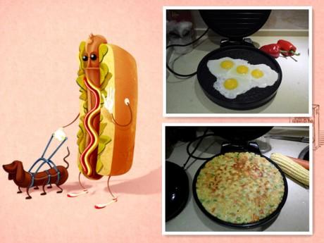 电饼铛图片