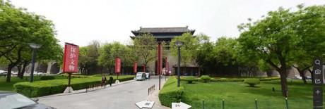 西安古城墙西门安定门图片