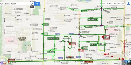 西安西大街旅游地图