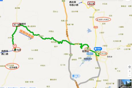 弥勒至西一镇路线图