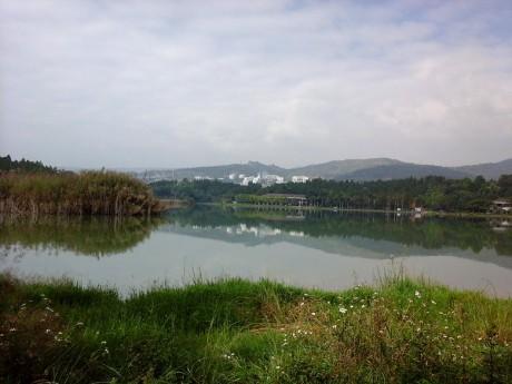 弥勒印云湖图片