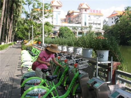 景洪公共自行车图片