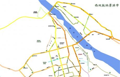 景洪公共自行车分布图1