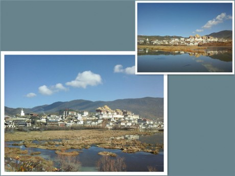 松赞林寺全景图片