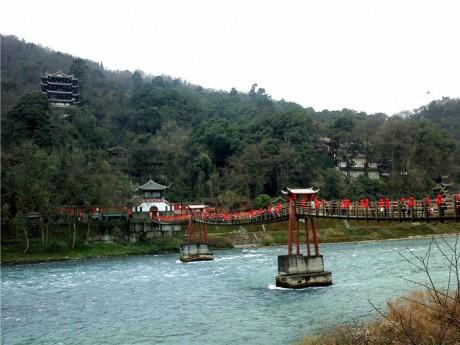 都江堰安澜索桥图片