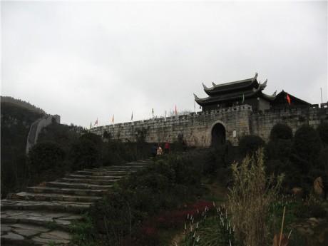 青岩古镇城墙和南门(定广门)图片