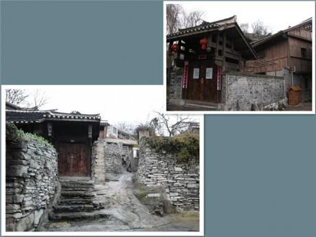 青岩古镇民居和石板房图片