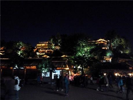 丽江古城大研古镇夜景图片6