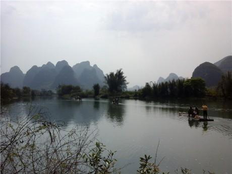 阳朔遇龙河漂流图片