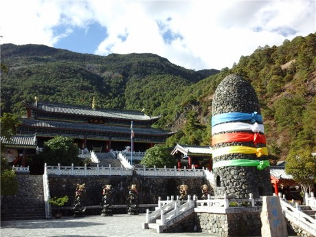 丽江玉水寨东巴神庙图片