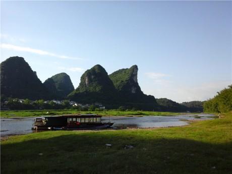 阳朔鳌鱼洲和龙头山图片