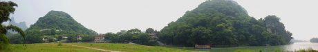 阳朔福利古镇鹦鹉山全景图片