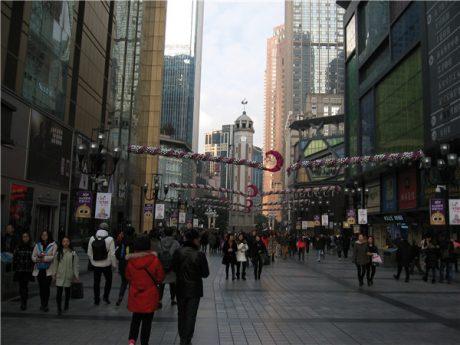 重庆解放碑步行街图片