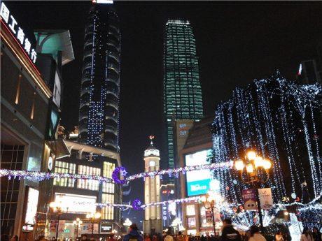重庆解放碑夜景图片1