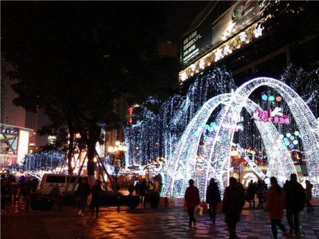重庆解放碑夜景图片2