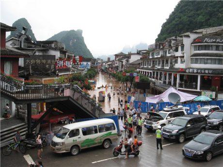 阳朔县城水灾后图片1