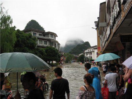 阳朔县城水灾图片1