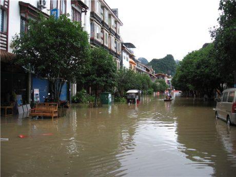 阳朔县城水灾图片3