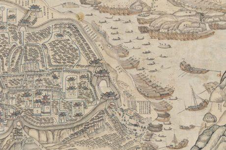 1886年清朝地图中的朝天门
